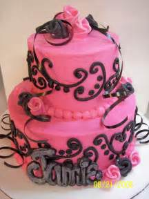 pinker kuchen pink and black wedding cakes reference for wedding