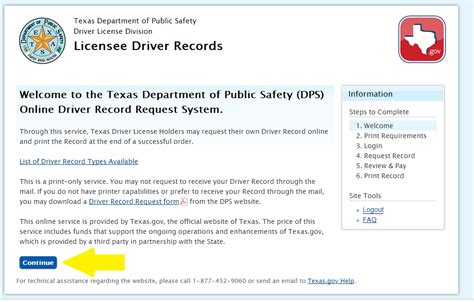 Department Of Safety Driver Records Driver License Record