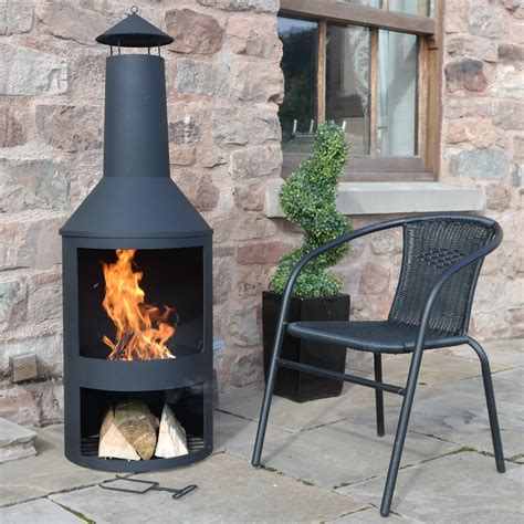 large chiminea outdoor fireplace large garden chimenea chimnea pit patio heater
