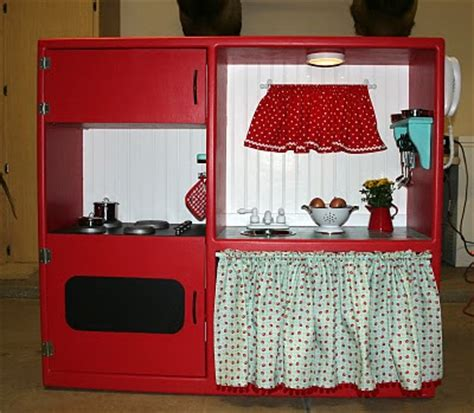 Tv Cabinet Into Play Kitchen From Thrift Store Tv Stand To Adorable Play Kitchen Money Saving 174