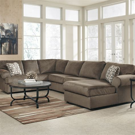 jessa place sectional dune jessa place dune 3pc raf chaise sectional louisville