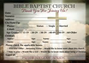 Church Welcome Card Template by Church Visitor Card Template Images