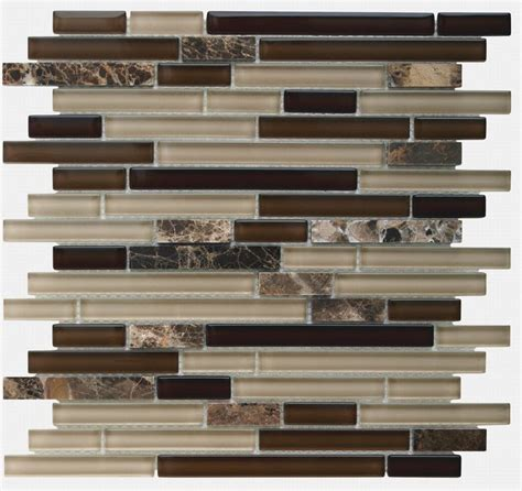 glass tile backsplash linear mocha glasses mocha and