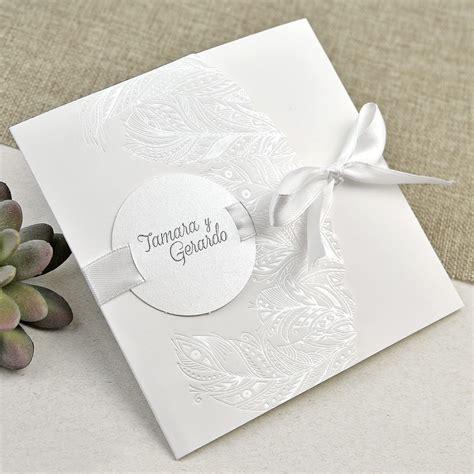 invitaciones elegantes boda invitaci 243 n de boda elegante y plateada gt invitaciones de boda gt colecci 243 n 2018