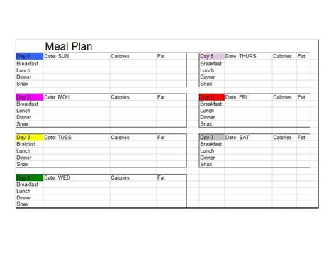 40 Weekly Meal Planning Templates Template Lab Diet Planner Template