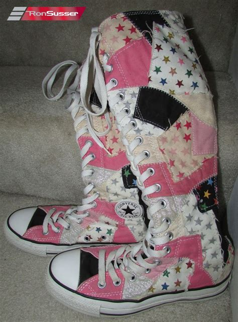 Patchwork Converse - converse all chuck knee high patchwork boot