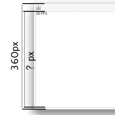 java swing framework java swing set quot actual quot frame size inside stack overflow