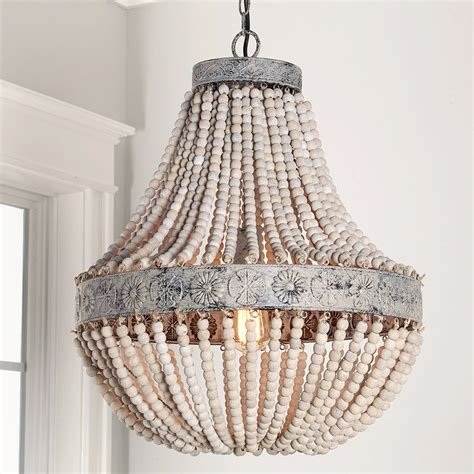 wood bead ceiling light aged wood beaded chandelier shades of light