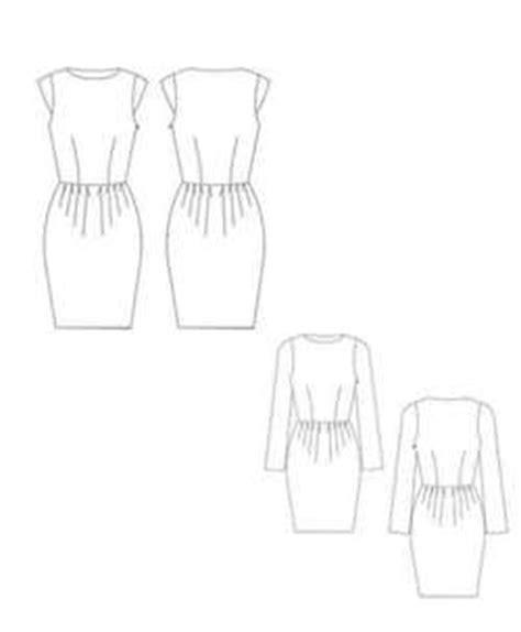 Exc Button Skirt Scuba schnittchen pattern dress tanja