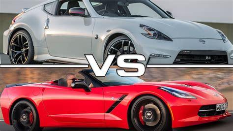 nissan 370z nismo vs chevrolet corvette stingray