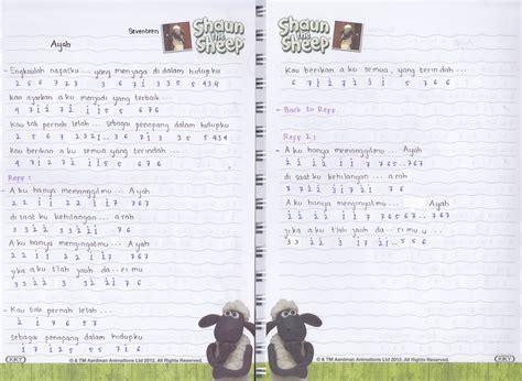 download lagu seventeen catatan not lagu seventeen ayah piano pianika pemula