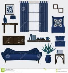 Blue Living Room Clip Living Room Furniture And Accessories In Color Navy Blue