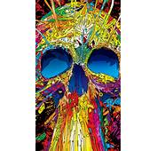 Abstract Multicolored Skull Android Wallpaper Free Download