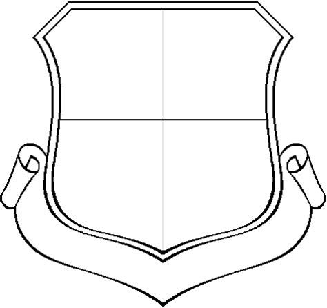 crest shield template shield template cliparts co