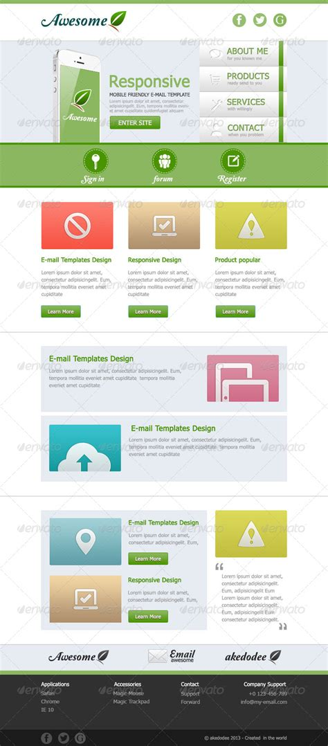awesome email templates awesome e mail template design vol 1 by akedodee