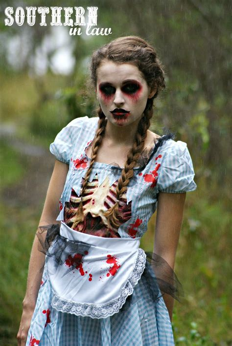 zombie painting tutorial southern in law step by step halloween zombie look tutorial