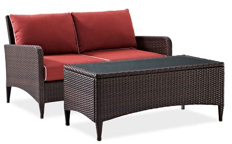 outdoor furniture loveseat corona outdoor loveseat and cocktail table set sangria