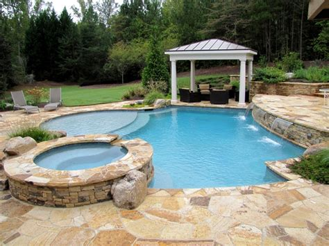 flagstone decoration for long swimming pool for small yard irregular flagstone deck blue lagoon pebble tec sheer