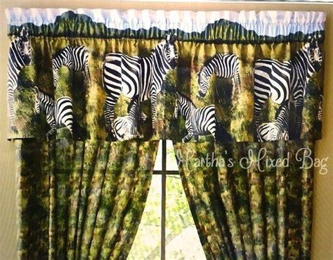 63 Inch Curtains Safari Jungle Zebra Kingdom Animal Print Window Treatment