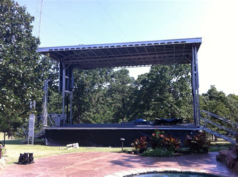 Backyard Stage Mobile Stage Rental Arkansas Mobile Stage Rental