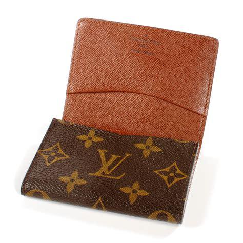 Louis Vuitton Lv Monogram Coklat Tempat Card Holder Pocket Chocolate louis vuitton monogram business card holder 40336