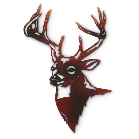 deer head wall l deer metal wall art 592473 wall art at sportsman s guide