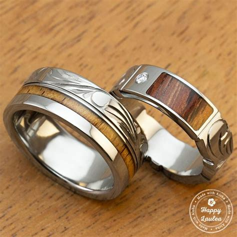 pair of 6 8mm assorted titanium couple wedding rings with