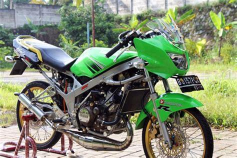 modifikasi motor r warna hijau modifoke info