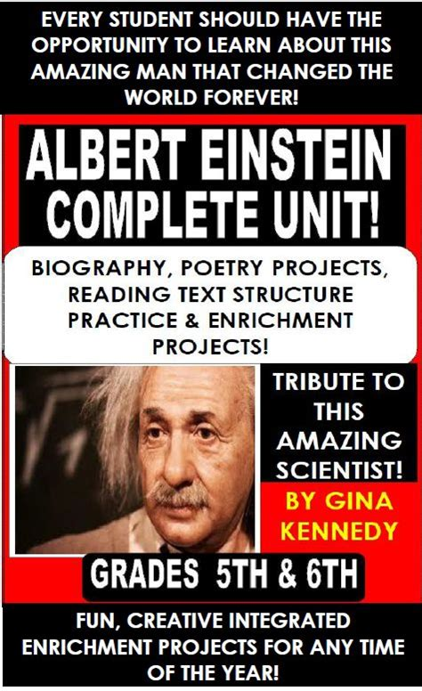 biography text albert einstein albert einstein note taking reading skills and biographies