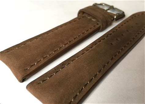 Original Brand New Breitling Brown Calfskin Leather 22 20mm new item 22mm rios1931 for panatime light suede brown genuine vintage leather with