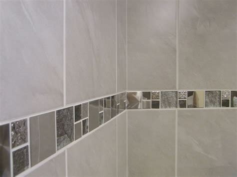 tile border bathroom 10 30m2 travertine effect grey ceramic bathroom wall tile deal inc borders