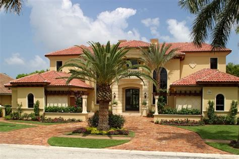 tuscan house mediterranean exterior miami by hollub homes