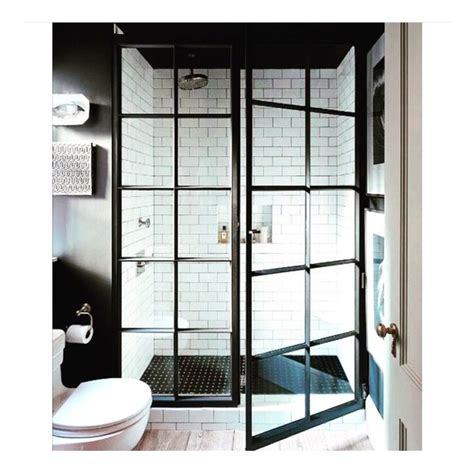 industrial shower door industrial shower doors bathrooms pinterest