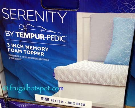 Costco Mattress Sale by Costco Sale Serenity By Tempur Pedic Memory Foam Mattress