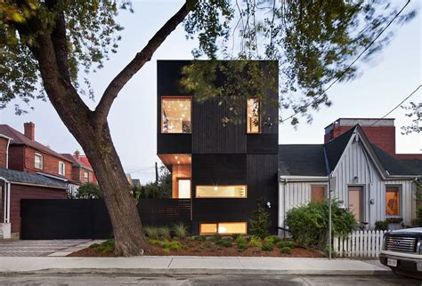 modern day houses dark modern day house in toronto illuminated from the