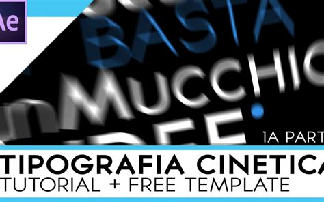 tutorial after effects lyric video tipografia cinetica tutorial after effects parte 1