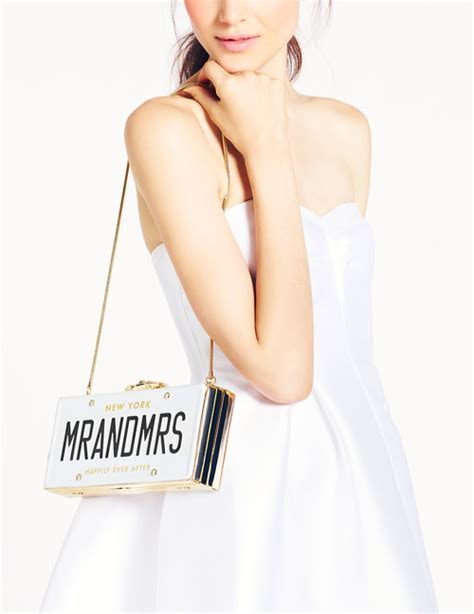 Wedding Belles License Plate Clutch by Kate Spade New York Wedding Belles License Plate Clutch