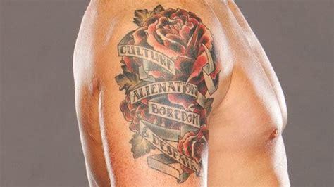wwe tattoo quiz top 15 coolest wwe superstar tattoos wrestling amino