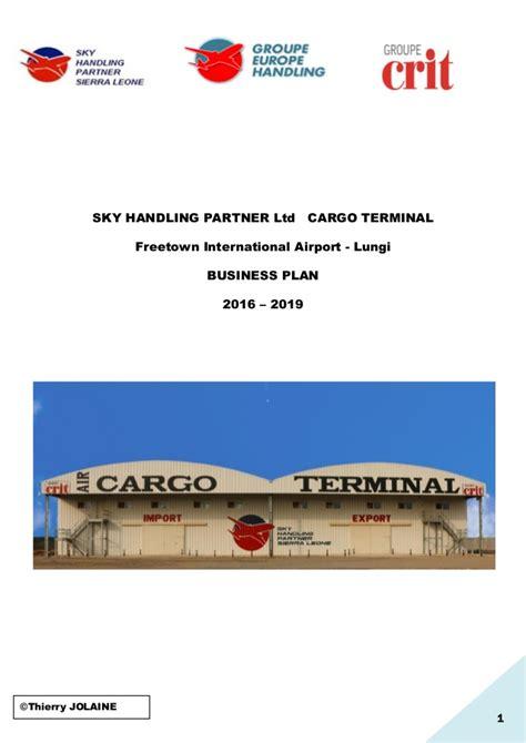 For Business 1 Rachmell Vazokiray Limited sky handling partner ltd cargo terminal business plan slide