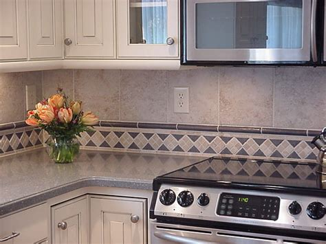 Tile Borders For Kitchen Backsplash | kitchen backsplash with mosaic tile border and liner