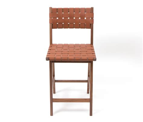 Woven Stools by Woven Leather Backed Stool Bar Stools From Smilow Design