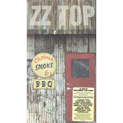 zz top bar bq chrome smoke b b q the zz top box by zz top cd x 4 with titounet44 ref 117155888
