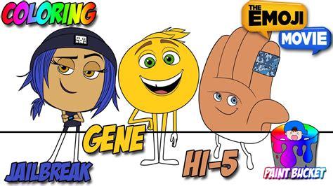 emoji film neus pijl the emoji movie coloring pages gene jailbreak hi 5 emoji