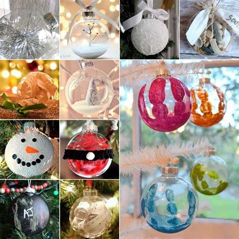creative clear ball christmas ornament ideas