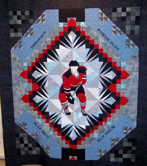 Hockey Quilt Patterns hockey quilts eh satin moon s