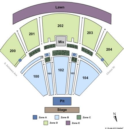 tweeter center seating chart bb t pavilion tickets in camden new jersey bb t pavilion