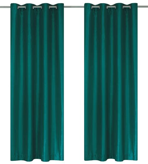 green and teal curtains lj home fashions silkana faux silk 56x88 inch grommet 2