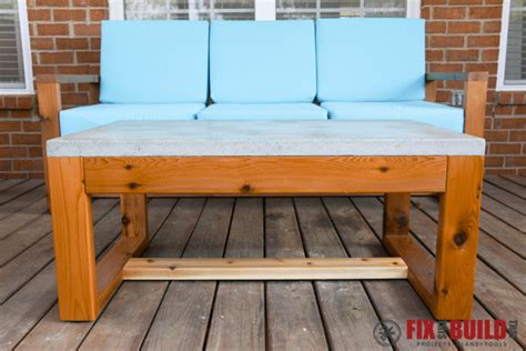 Cedar Coffee Table Plans Cedar Outdoor Coffee Table With Concrete Top By Fixthisbuildthat Lumberjocks