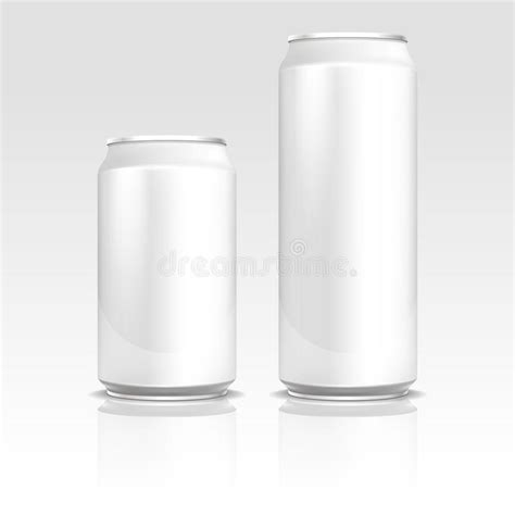 Aluminum Energy Drink Soda Beer Cans 500 And 330 Ml Vector Realistic Template Stock Vector Energy Drink Design Template
