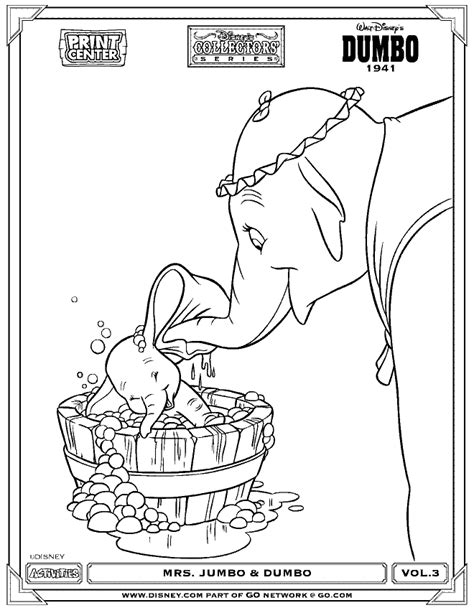Coloring Page Dumbo Bath Time Coloring Pages